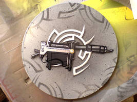 Tattoo Gun Clock by messymedia