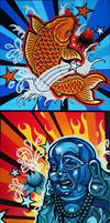 Asian Art Canvases