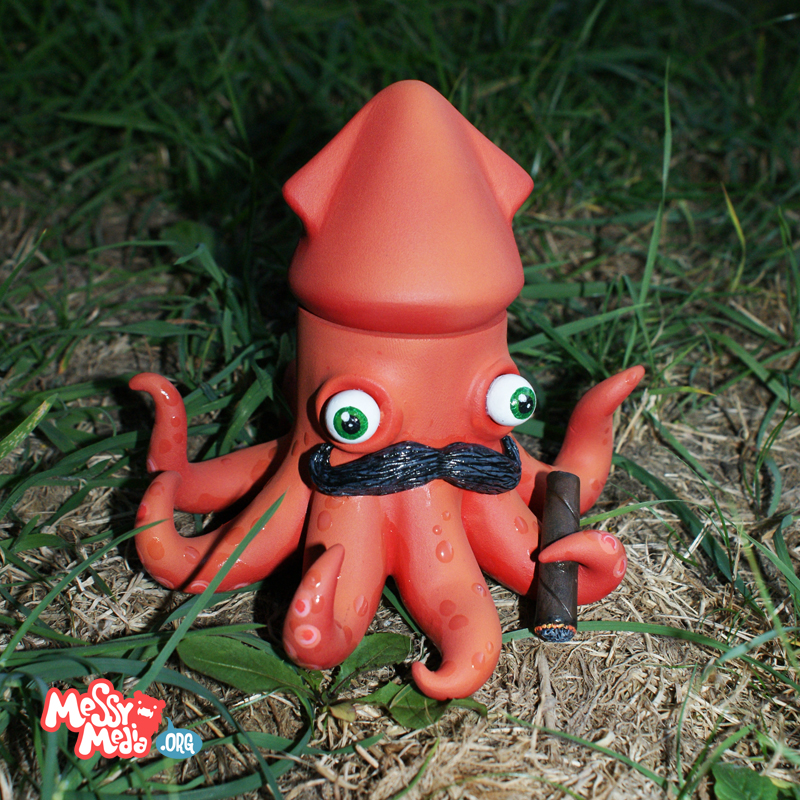 Sir Inkwell - Custom Android doll by messymedia