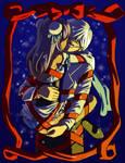 Christmas Couple Commission by elmenora
