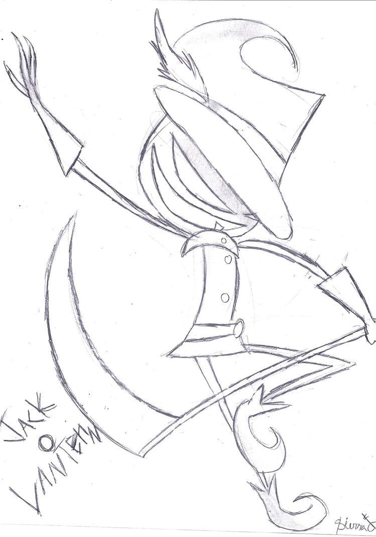 Jack 'o Lantern sketch by Skellanimal21 on deviantART