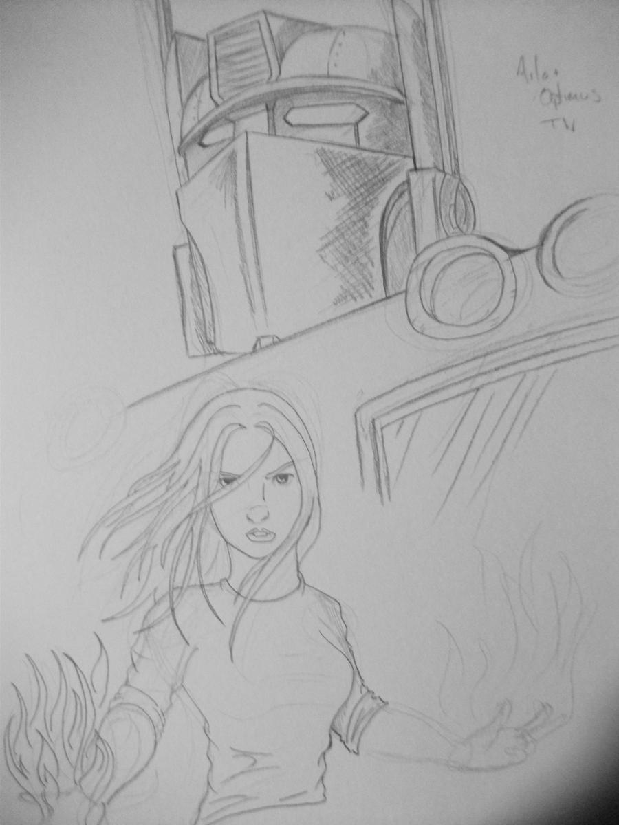 Aila+Optimus Prime by FactionFighter