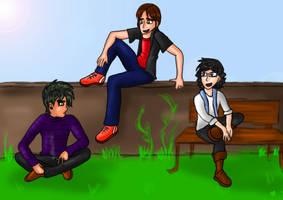 Zack, Arnold, and Dane by Birdhousebirdy