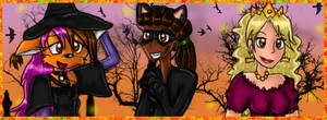 Halloween 2015 with my Characters by Birdhousebirdy
