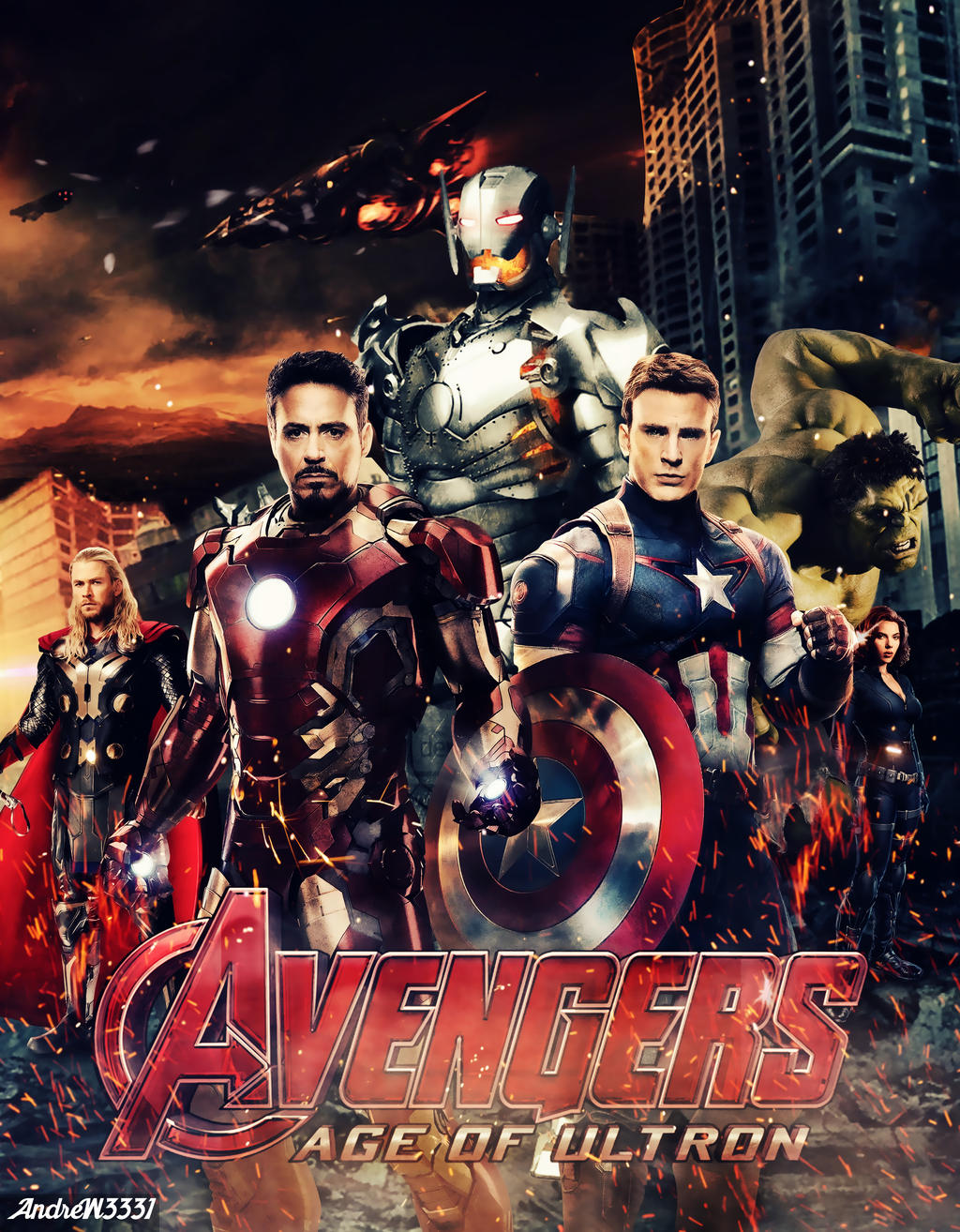 Avengers Age Of Ultron By Iloegbunam On Deviantart: The Avengers: Age Of Ultron By Fabioandre18 On DeviantArt