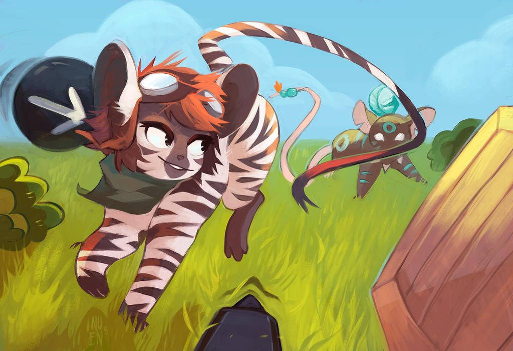 Running around the field by NestorUst
