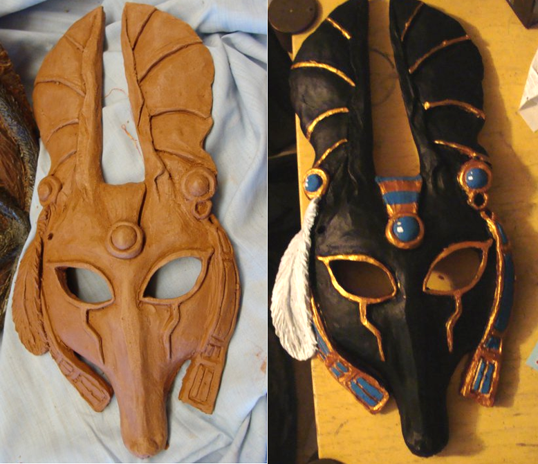 how to make an anubis mask