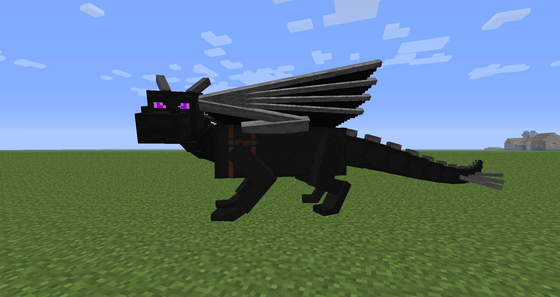 The Tamed Minecraft Ender Dragon By Mid0456 On DeviantArt