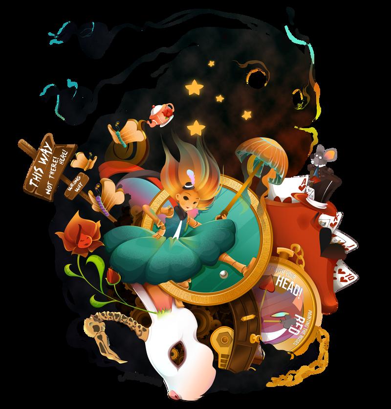 Alice in Wonderland by jejejeca