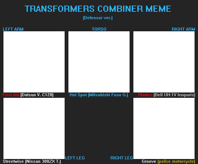 TF Combiner meme (G1 Defensor) (F2U) by FlainYesFourzeNo