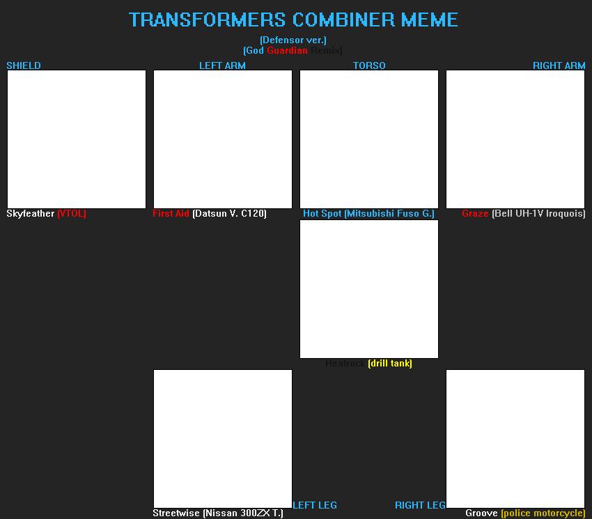 TF Combiner meme (God Guardian) (F2U) by FlainYesFourzeNo