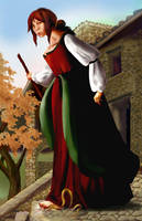 Italian Peasant Woman from past times by galerius61