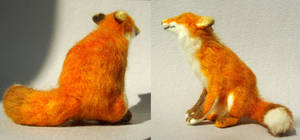 Red Fox- A needle felted soft sculpture