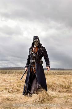 Corvo in a field