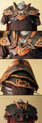 Leather Gorget and pauldrons