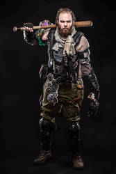 Post Apocalyptic warrior by NeonCowboy