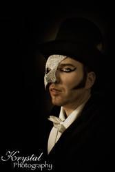 Phantom of the Opera rhinestoned mask