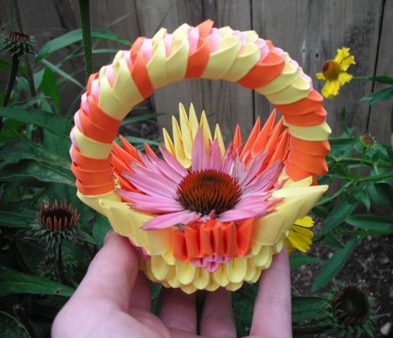 3D Origami Flower Basket By Larrington SS