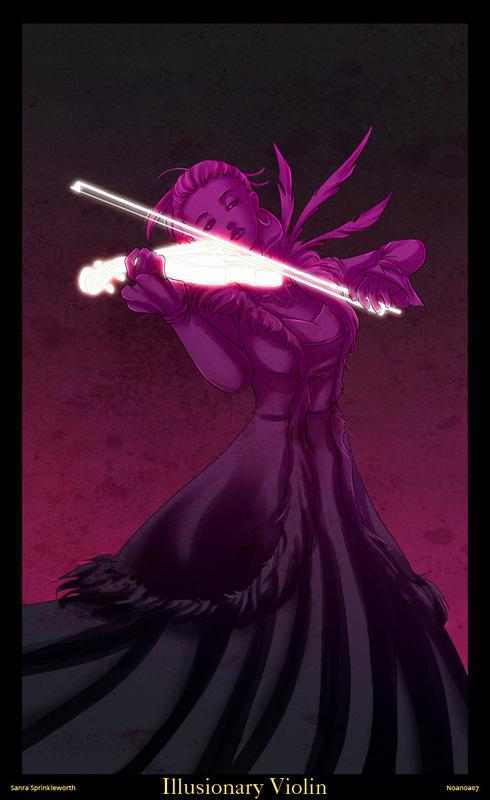 Illusionary Violin by Zhenoa
