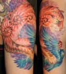 Cat and Bird by OsaWahn