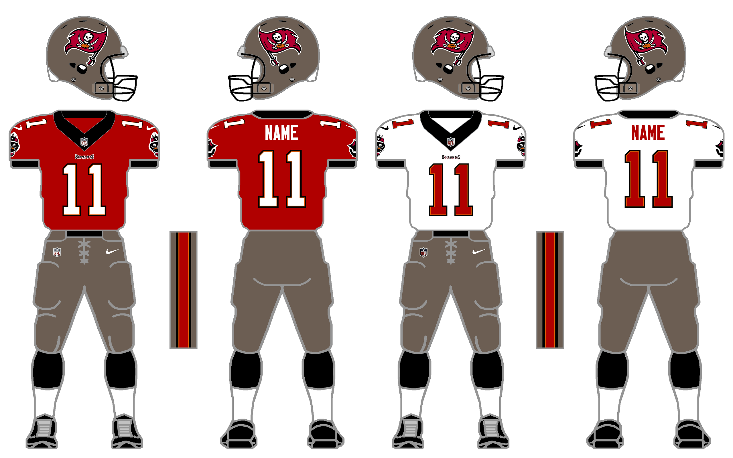 Nike Elite 51 Buccaneers Uniform Tweak by SimplyMoono on DeviantArt