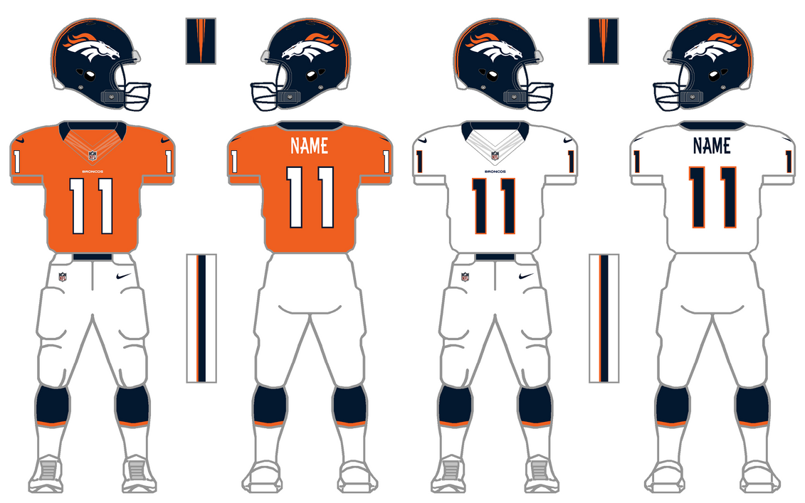 Nike Elite 51 Broncos Uniform Tweak by SimplyMoono