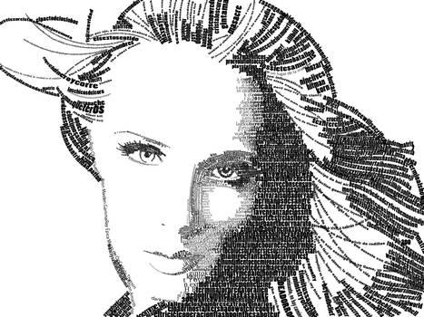 retrato con tipografia