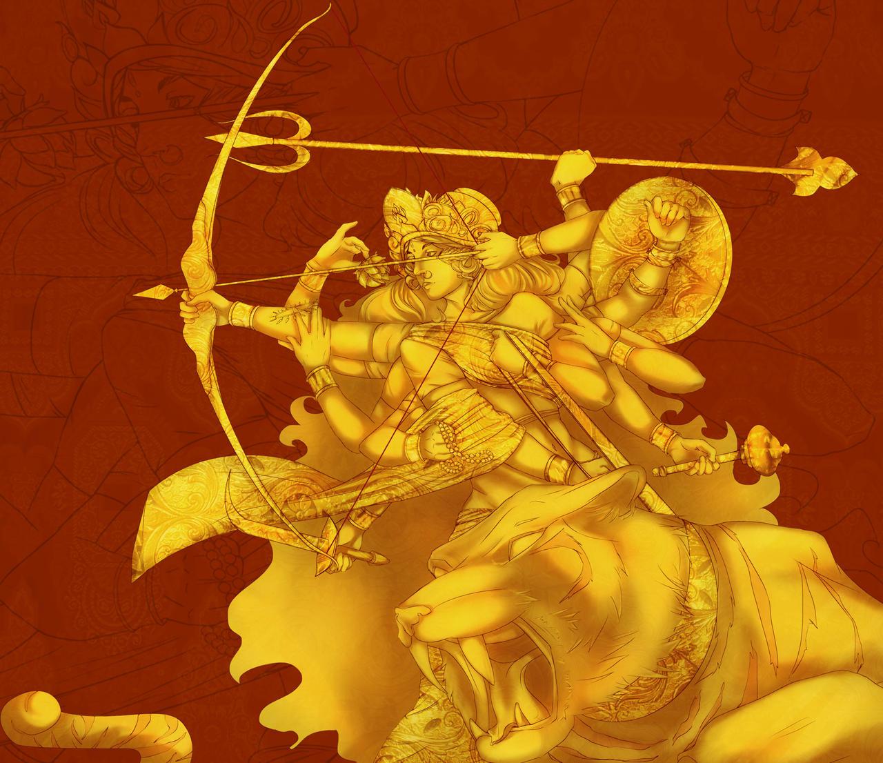 Goddess Durga By HumDrumBuzz On DeviantArt