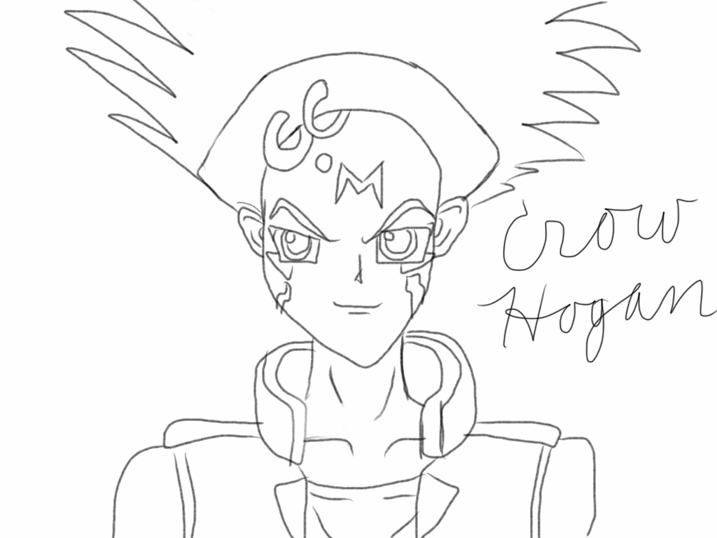 Sister's drawing of Crow Hogan by AskTuxSonicsSister
