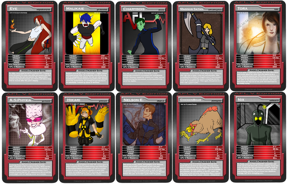 AFL5 Top Trumps 1 of 8 by AngelCrusher on DeviantArt