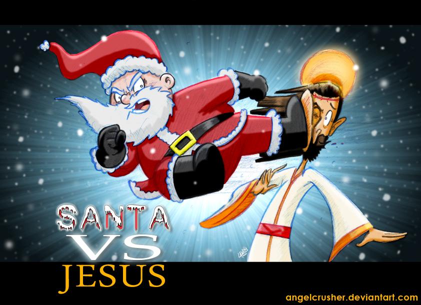 santa vs jesus by angelcrusher - Santa And Jesus