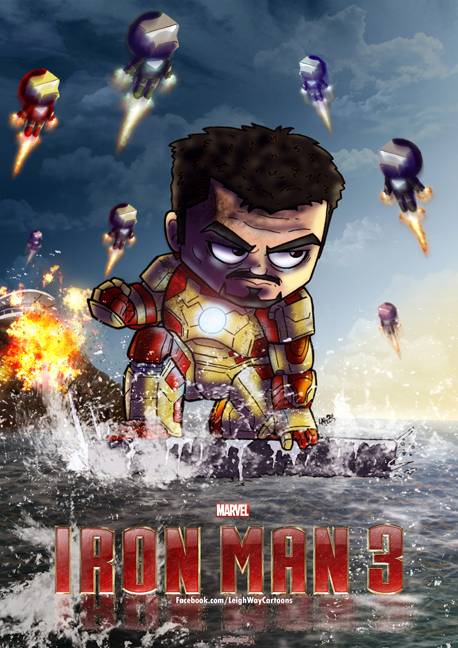 Iron Man 3 poster by AngelCrusher