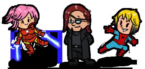 Sai-Shou Mini-heroes Commission by AngelCrusher