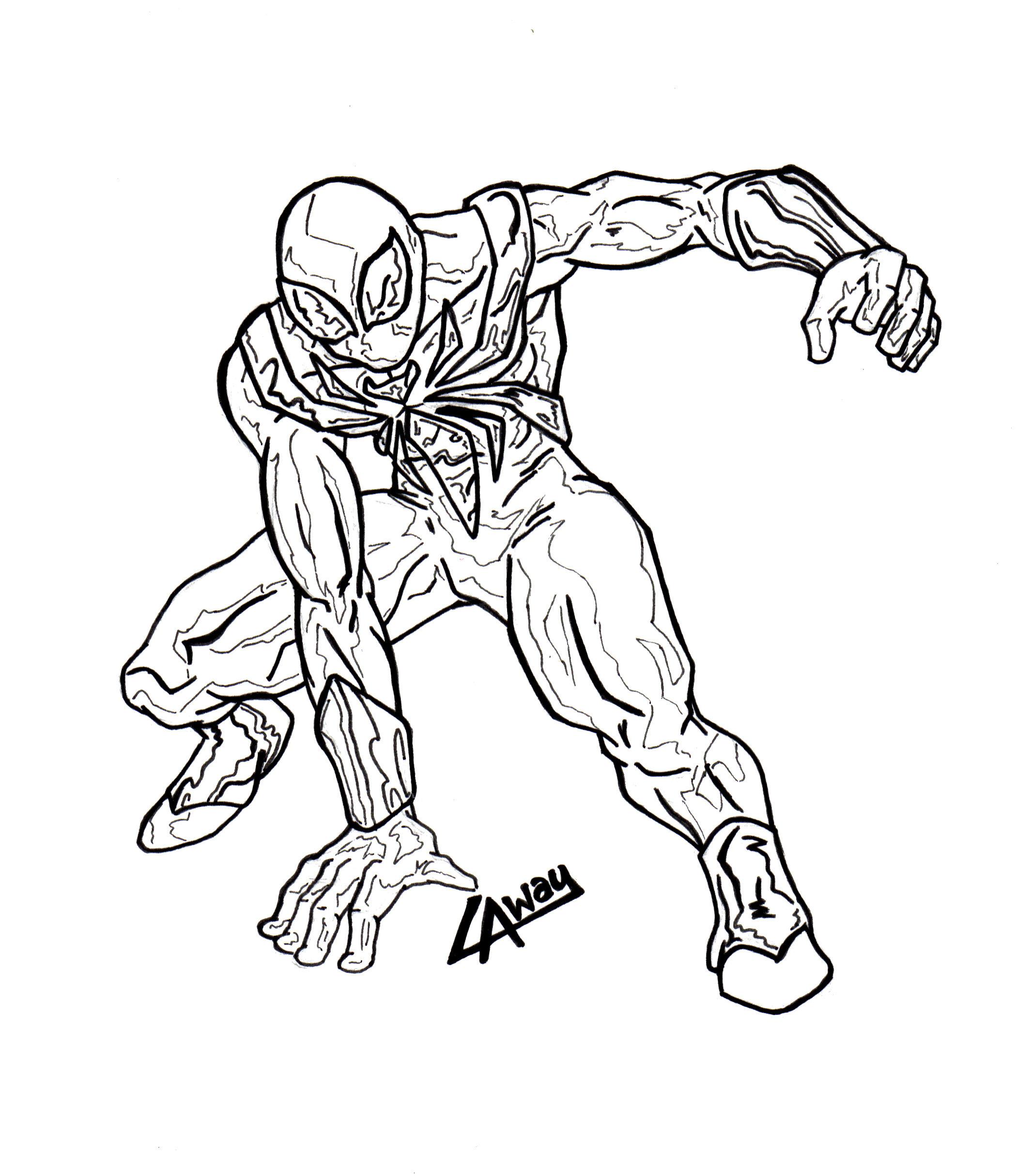 Iron Spiderman Inked by AngelCrusher on DeviantArt