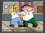 Homer Vs. Peter Dream Fight