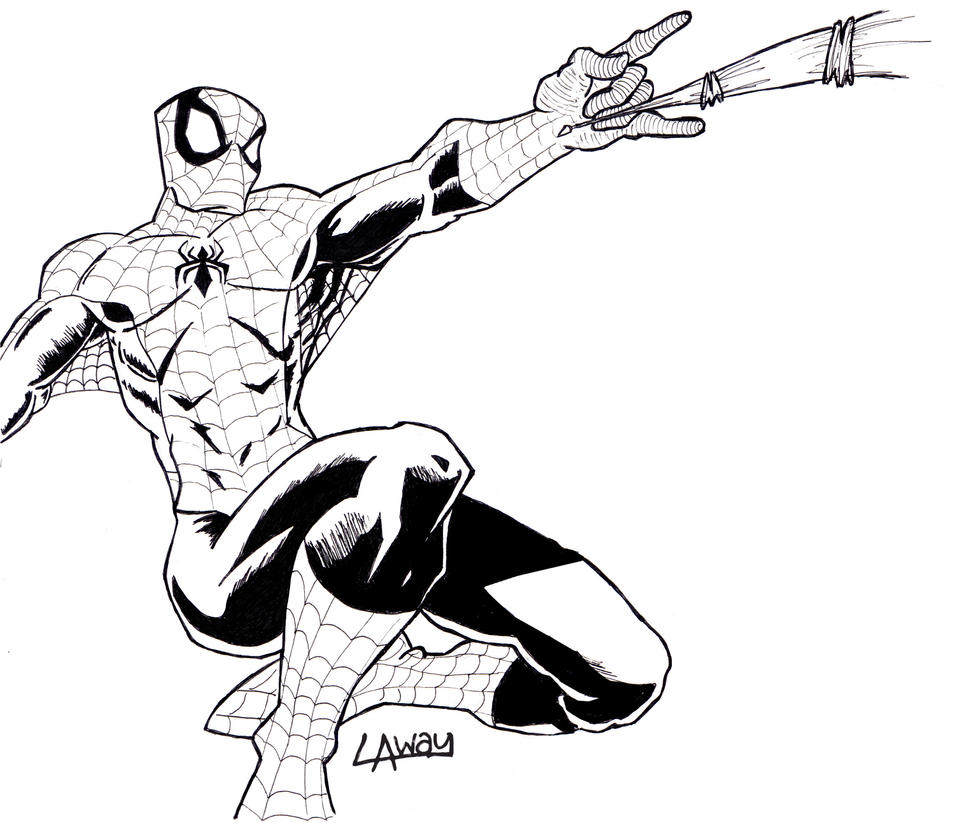 Spiderman Face Line Drawing : Ol spiderman lineart by angelcrusher on deviantart
