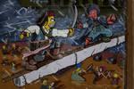 Simpsons V Futurama PotC Fight