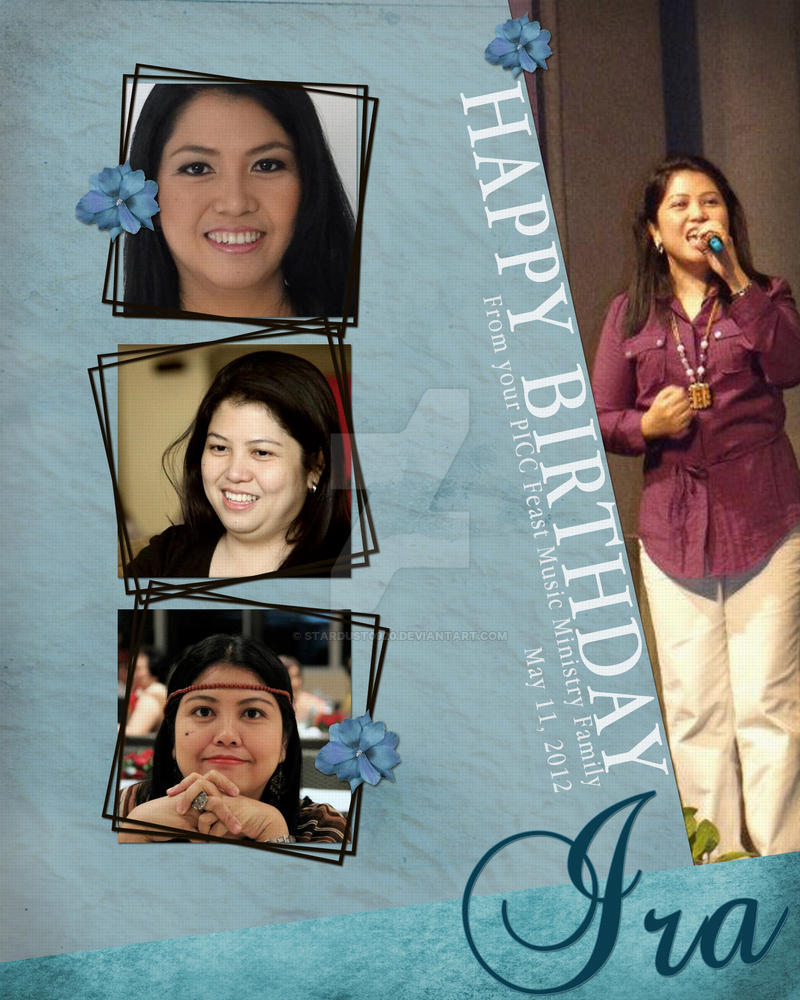 Ate Ira Personalized Birthday Greeting Card By Stardust0920 On