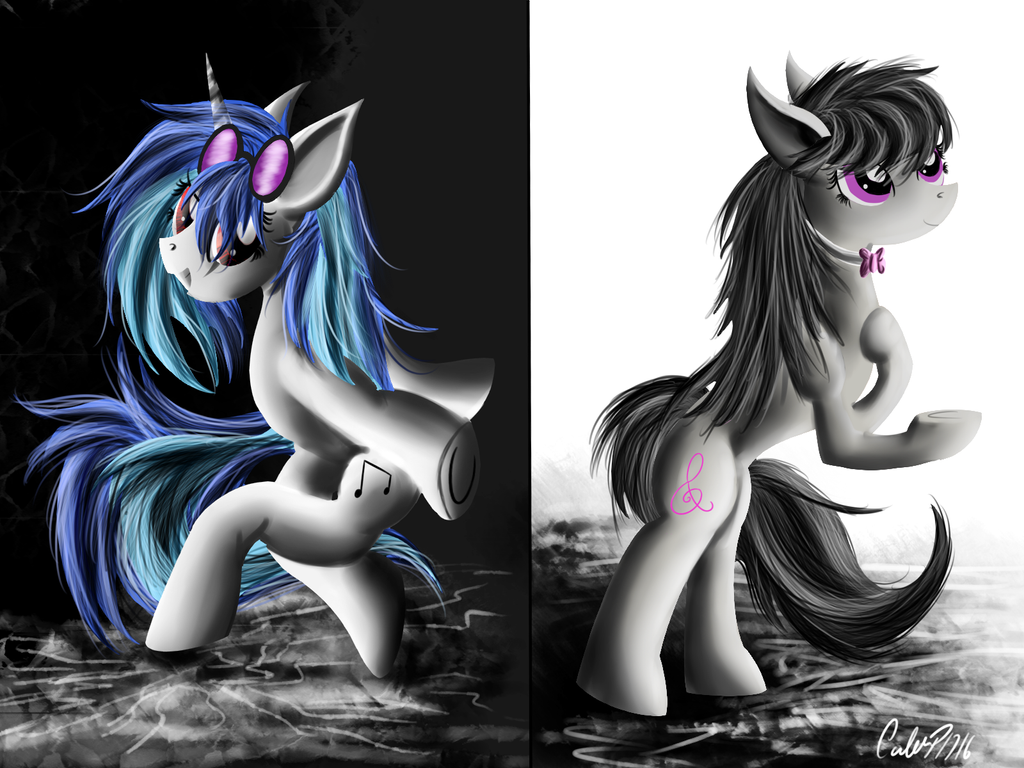 vinyl_scratch_and_octavia_by_calebp1716-