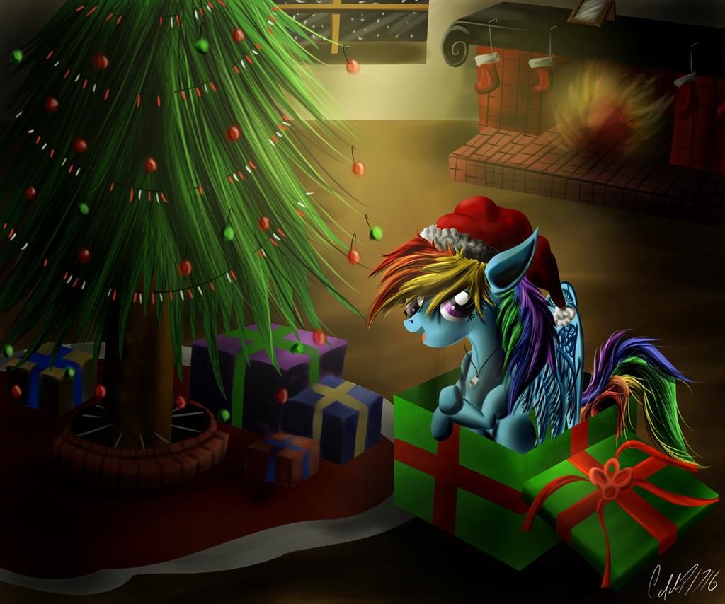 Merry Christmas Rainbow Dash by CalebP1716 on DeviantArt