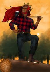 lumberjack Ganon - colors by Cristal-Knight