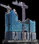 Elbphilharmonie Construction Site Stock