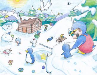 Snowy Wonderland by Creation7X24