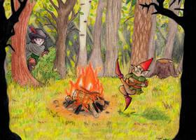 Fairy tale border: Rumpelstiltskin by eightcrows