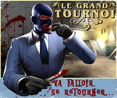 TF2 Affiche Tournoi SPy by ChibiErmiteRaillant