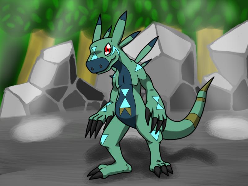 Fan Made Digimon : Grotamon by Zaiba-Man