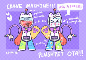 CRANE MACHINE PLUSHPET OTA - CLOSED
