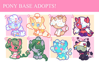 PONY BASE ADOPTS! AUCTION - OPEN (1/8)