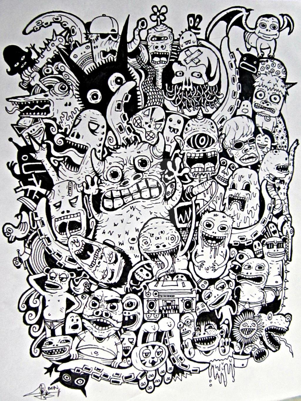 doodle monster by mynameisaverb on deviantart