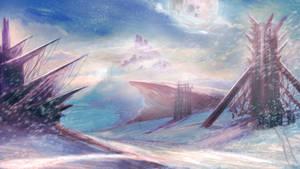 snowy scenery by guugoo